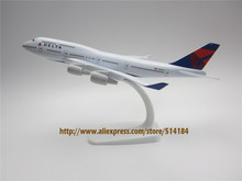 20cm Metal Alloy Plane Model Air DELTA Airlines Aircraft Boeing 747 B747 Airways Airplane Model w Stand Gift