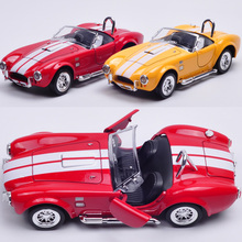 1/26 Scale Classical Ford 1965 Shelby Cobra 427 S/C Flashing Musical Pull Back Diecast Metal Car Model Toy New In Box