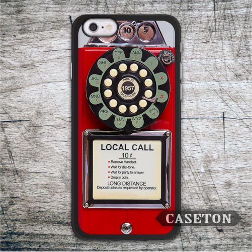 Old Retro Red Telephone font b Case b font For iPod 5 and For font b