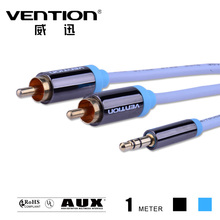 ice blue audios cables rca 3.5mm male to male aux video cable one point double lotus 3.5mm jack speaker wire for car/PC/TV
