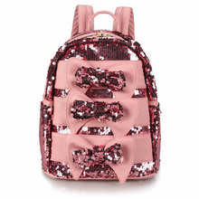 Buy Fashion Bling Bow Sequins Printing Backpack Casual Backpacks Teenage Girls Travel Students School Book Rucksack Mochila for $20.22 in AliExpress store