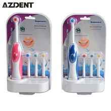 Waterproof Soft Rotating  Electric Toothbrush With 4 Replacement Brush Heads Teeth Whitener Cleaning Oral Hygiene Tooth Brush