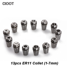 13Pcs ER11 Collet chuck cnc Spindle ER11 Collet lathe tool holder Pinza ER11 Collet set from 1-7MM for CNC milling lather tool(China)