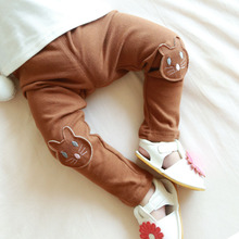 Korean Boy Pants Girl Kitty Embroidered Hit Underpant Children Pure Cotton Trousers(China)