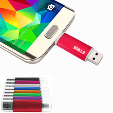 Hot sale Mini OTG flash memory usb flash drive Smartphone 2 in 1 computer usb disk 32g 64g stick 4/8/16/128GB pendrives 16gb usb
