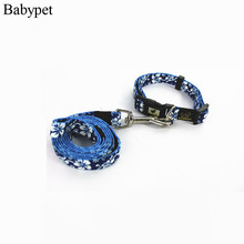 High Quality brand name cheap pet collar and leash set nylon pet dog Collar & Leads for Chihuahua Poodle Pitbull
