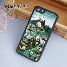 MaiYaCa Kung Fu Panda 3 Family Soft Rubber cell phone Case Cover for iPhone 5 5S SE phone cover shell(China)