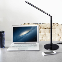 New Adjustable Eye-caring 24 LEDs Desk Table Lamp Toughened Glass Base for Home Office Reading Studying White high quality(China)