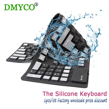 5pc/lot big discount 108 keys USB Wired Russian/English waterproof keyboards silicon Flexible keyboard for Laptop Desktop tablet