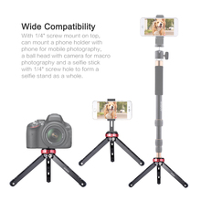 Andoer MT-01 Portable Table Tripod Aluminum Alloy Photography Mini Camera Mobile Phone Tripods Bracket w/ Screw Mount Load 80kg