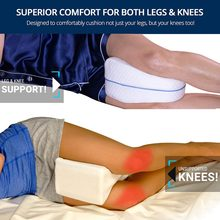 Orthopedic Memory Foam Knee Wedge Pillow For Sleeping Sciatica Back Hip Joint Pain Relief Contour Thigh Leg Pad Support Cushion(China)