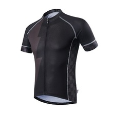 Black Men's Short Sleeve Cycling Jersey 2017 Bike Sport wear Bicycle Clothing Breathable ropa ciclismo jersey best quality