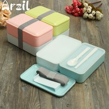 Japanese Bento Lunch Box School Microwaveable Food Container with Insulated Lunch Tote Bag Lunchbox With Chopsticks and Spoon