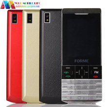 In Stock! Metal Texture! original FORME K58 dual sim bluetooth telefon cell phone unlocked mobile phone Free Multi color shell(China)