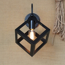 Antique Wrought Vintage Brief Retro Style Wall Light Sconce Edison Type Bulb Lamp(China)