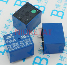 10pcs SRD-05VDC-SL-C 5VDC 10A 250 VAC Power relay PCB Type T73-5V 5 feet SRD-5VDC-SL-C 10A 125VAC New and original Free shipping(Hong Kong)
