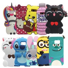 3D Cartoon Rabbit Sulley Stitch Unicorn Soft Silicone Case For Samsung Galaxy S8 Cute Kitten Hello Kitty Back Cover For S8 plus