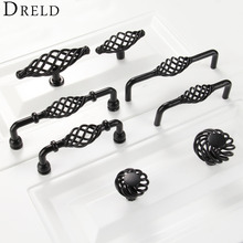 2017 Furniture Handles Black Birdcage Wardrobe Door Pull Dresser Drawer Handle Kitchen Cupboard Handle Cabinet Knobs and Handles(China)