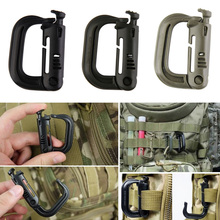 Tactical Backpack Carabiner Snap D-Ring Clip Key Ring Locking Carabiner Climbing Hook Survival EDC Tool  BHU2