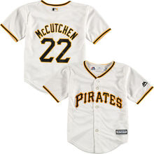 MLB Toddler Pittsburgh Pirates Andrew McCutchen Baseball White Official Player Cool Base Jersey(China)