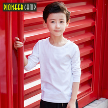 Pioneer Camp Kids 4-14T Spring Autumn 2017 Long Sleeve T-shirt For Girl Stripe Boys T shirts Boy Shirt Tops Children's Clothing(China)