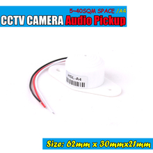 High Quality CCTV Audio Pickup Microphone CCTV System Listening range of 5-40 square meters