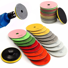 19pcs 4 inch Diamond Polishing Pad Wet/Dry Granite Marble Concrete Stone Grinding Discs Set(China)