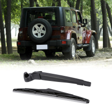 Rear Wiper Arm with Blade Complete For JEEP Wrangler 2008-2017 OE:68002490AB Black Rear Windscreen Wiper Blade Set