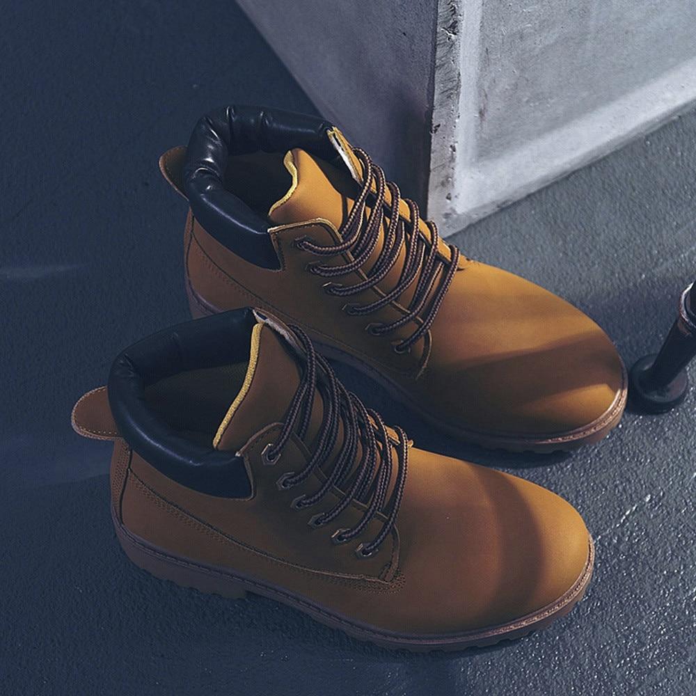 Szyadeou Women Ladies Round Toe Lace-up Faux Boots Ankle Casual Martin Shoes botas mujer invierno kozaki damskie schoenen 30 29