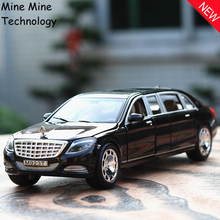 Double Horses 1:24 free shipping maybach S600 lengthene Alloy Diecast Car Model Pull Back Toy Car model Electronic Car Kids Toys