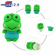 cartoon Silicone Frog USB Flash Drive Pen Drive Pendrive Memory Stick 4GB 8GB 16GB 32GB USB 2.0 U Disk storage device