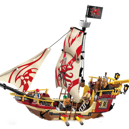 Enlighten 368pcs Enlighten pirates ship Marauder building block set Kids Educational Bricks Toys<br><br>Aliexpress