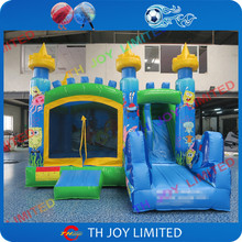 4.5m inflatable slide bouncer with full printing