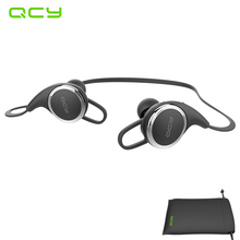 QCY QY8 in-ear sport earphone wireless bluetooth earbuds running sweatproof headset gamer with MIC noise cancelling and pouch