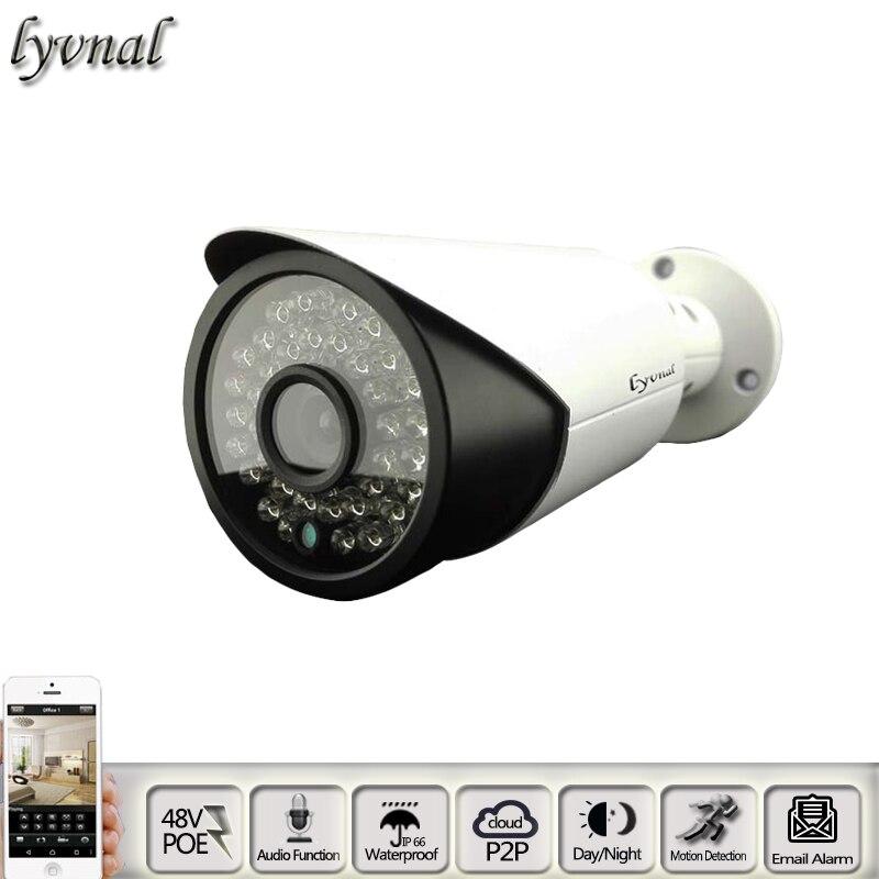 HD 1080P Night Audio Mini IP Camera POE 48V SONY 323 P2P Onvif Waterproof Security Network CCTV Camera<br>