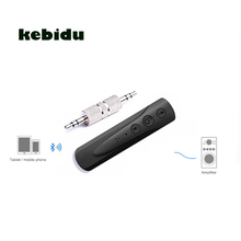 kebidu Bluetooth Car Kit New Bluetooth AUX Audio Receiver 3.5 Jack Music Reception Broadcast Car Bluetooth Hands-free(China)