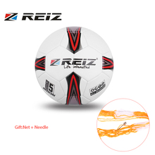 REIZ Professional Soccer Ball Official Size 5 Standard PU Football Outdoor Match Training Ball Sport Equipment Gift Net + Needle(China)