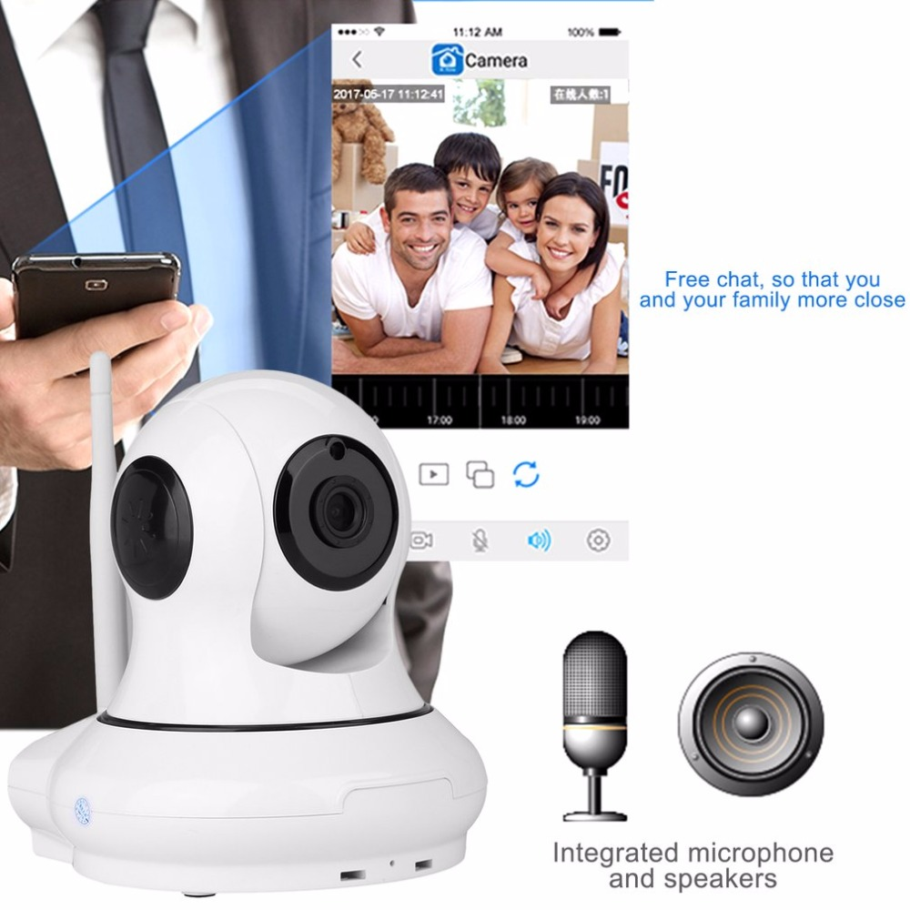 720P Wifi Wireless Security Alarm Intelligent Head Shaking Camera Support mobile APP remote monitoring for Indoor Safety Monitor<br>
