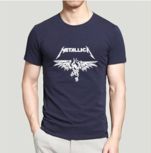 new arrival Classic Heavy Metal Metallica Rock And Roll Men T Shirt 2017 summer hip hop style streetwear 100% cotton top tees