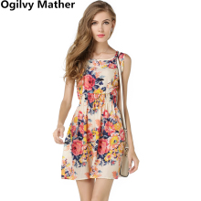 Buy Summer Women Dress 2018 Ladies Print Casual Female Style Fashion Office Women Clothing Cheap Bohemian Beach Sleeveless Dress for $4.99 in AliExpress store