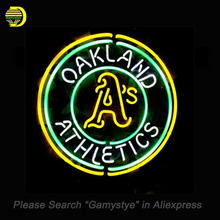 NEON SIGN For Sport OAKLAND ATHLETICS Neon Bulbs Sign HANDmade Custom decorative hanging neon signs vintage personalised light(China)