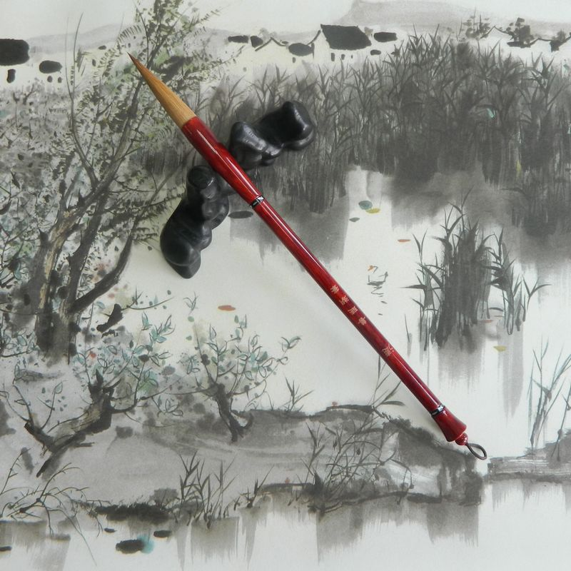 Huzhou Shanlian Hubi thick brush de series of pure Langhao brush carrier block<br>