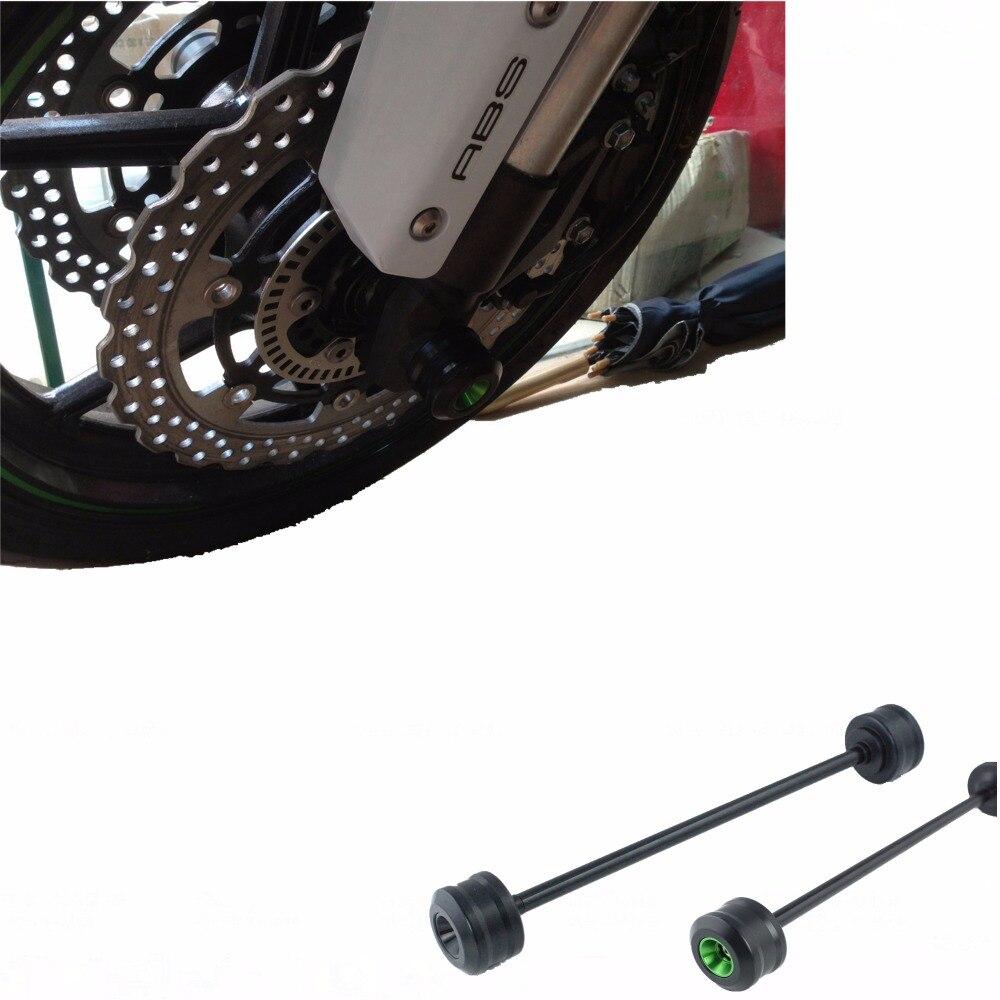 For KAWASAKI Z800 Front Axle Fork Crash Sliders Cap Wheel Protector Green Orange For kawasaki z800 2013-2015<br><br>Aliexpress