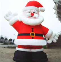 free shipping 6m giant advertising inflatable Christmas santa clause balloon for Christmas ornament(China)