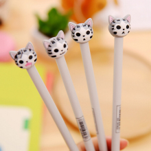 T55 4X Cute Kawaii Cheese Cat Gel Pen Student Writing Pens School Office Supply Stationery Promotion Gift  Rewarding