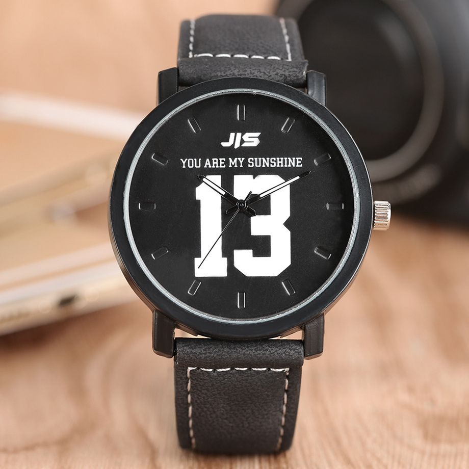 YOU ARE MY EVERYTHING Series Men Watch JIS Unique Number 1314 Quartz Wristwatch Young People Fashion Dress Clock Male Ulzzang 2018 (7)