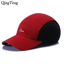 Summer New Luxury Brand Men Hat Patchwork Five Panel Caps Breathable Quick Drying Unisex Baseball Cap Adjustable Casual Sun Hat(China)
