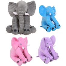 33cm 40cm Kawaii Colorful Cartoon Animal Soft Stuffed Plush Giant Elephant Sleeping Appease Baby Toys Pillow Dolls Home Decor