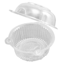 50 x Single Plastic Clear Cupcake Holder / Cake Container