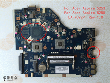 Free Shipping NEW NEW For Acer Aspire 5253 5250 Laptop Motherboard Non-HDMI P5WE6 LA-7092P Rev 1.0 Warranty:90 Days(China)